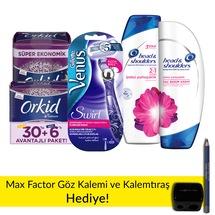 Gillette Venus Swirl-Orkid-H&S Şampuan&Krem-Max Factor Kalem