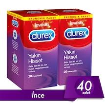 Durex Prezervatif Yakın Hisset 2 x 20'li