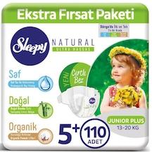 Sleepy Natural Bebek Bezi 5+ Numara Junior Plus Ekstra Fırsat Paketi 110 Adet