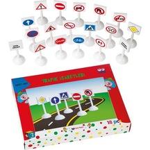 Güçlü 3457-167 Eğitici Trafik İşaretleri Lego Yap Boz Seti