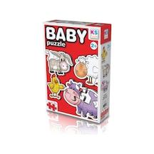 KS Games Baby Puzzle Okul Öncesi Bebek Puzzle Çiftlik Hayvanları