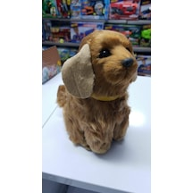 Peluş 25 cm Pilli Sesli  Hareketli Rottweiler Köpek Pelüş