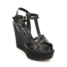 774644f35572b Siyah Yazlık Ayakkabı 2019 Dolgu Topuklu Ayakkabı Modelleri ...