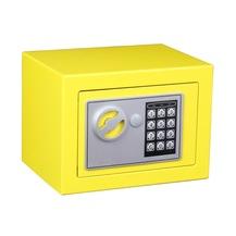elektronik şifreli anahtarlı çelik para kasası- sarı