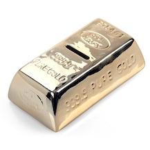 külçe altın görünümlü kumbara