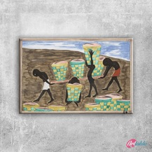 Doğa Manzarası Peyzaj Yağlı Boya Sanat Kanvas Tablo Art Tablo