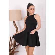 0dfcad277d8ed Barevsu Scuba Kumaş Mini Kadın Abiye Elbise 39