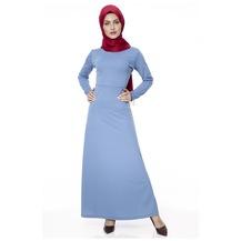 c678afcef79f4 Sade Uzun Elbiseler 2019 Tesettür Elbise & Tulum Modelleri - n11.com ...