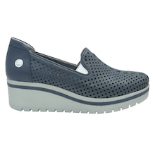 399872e0e7ca1 Mammamia D19YA725 Kot Mavi Deri Casual Kadın Ayakkabı