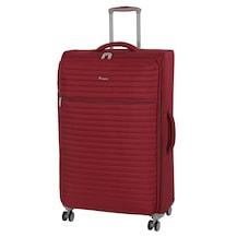 94033db99e975 It Luggage Extra Hafif Kırmızı Kumaş Orta Boy Valiz