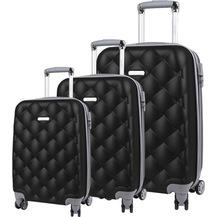 3258d898d08c1 Escape Siyah Unisex Valiz Bavul Seyahat Çantası Seti Efete-Sıyah-