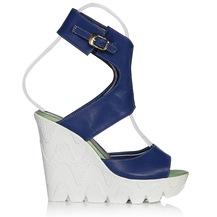 UK Polo Club P64709 Saks Mavisi Kadın Topuklu Sandalet