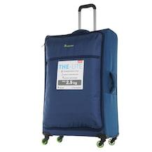 baa920c0d243b IT Luggage Büyük ve Orta Boy Kumaş İkili Valiz Set Mavi 2232