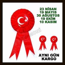 kurdelalı türk bayrağı rozeti bayrak rozet