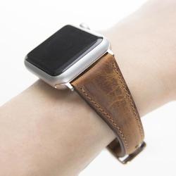 Bouletta Apple Watch Deri Kordon 38-40mm İnce G19 Taba