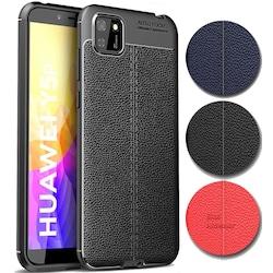 Huawei Y5P Kılıf Deri Desen Lüx Leather Silikon Kapak