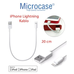 Microcase Apple iPhone XS Lightning Kısa Şarj - Data Kablosu