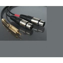 3.5 mm Stereo Erkek to 2 Xlr Dişi Kablo 3 metre