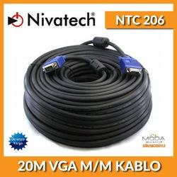NİVATECH NTC 206 20 METRE MALE TO MALE VGA KABLO