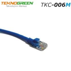TeknoGreen TKC-006M Cat 6 A Patch Kablo . Mavi 0.60Mt