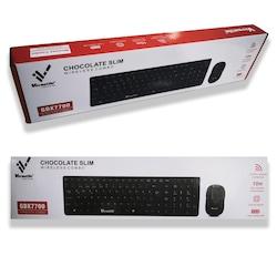 Versatile GDX7700 Chocolate Slim Kablosuz Q Klavye Mouse Set