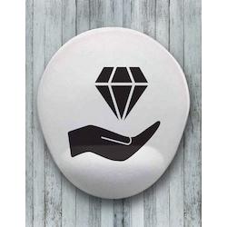 Jewelery Oval Bilek Destekli Mouse Pad
