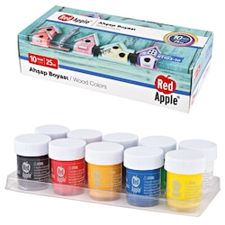 Red Apple Ahşap Boya 10 Renk 10x25 ml. RT103-10