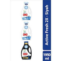 Omo Sıvı Deterjan Active Fresh 1950 mL*2 + Omo Black 1950 mL