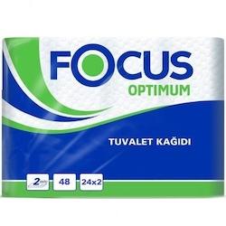 Focus Optimum Çift Katlı Tuvalet Kağıdı 2 x 24 Rulo