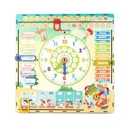 bikadu Eğitici Zaman Kutusu Çok Kapsamlı Montessori Oyuncak