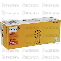 Philips 12V Ampul PR21/5W Kırmızı Ters 1016 - 12495CP / 10 ADET