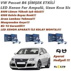 VW Passat B6 ŞİMŞEK ETKİLİ 8400LM Beyaz Led Xenon Aparat Hediyeli