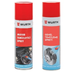 Würth Motor Temizleyici 500 ml + Fren Balata Spreyi 500 ml