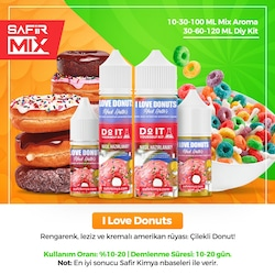 Mad Hatter I Love Donuts Mix Aroma - Nbase İçermez!
