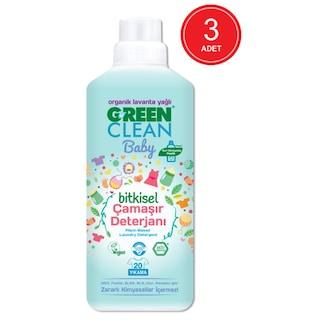 U Green Clean Baby Organik Lavanta Yağlı Bitkisel Çamaşır Deterjanı 3 x 1 L