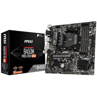 MSI B450M PRO-VDH MAX AMD B450 3866 MHz (OC) DDR4 Soket AM4 mATX Anakart