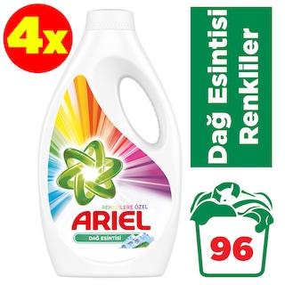 Ariel Dağ Esintisi Renkliler için Sıvı Çamaşır Deterjanı 24 Yıkama 4 x 1560 ML