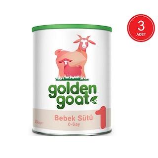 Golden Goat 1 Keçi Sütü Bazlı Bebek Sütü 0 - 6 Ay 3 x 400 G