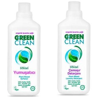 U Green Clean Organik Lavanta Yağlı Çamaşır Deterjanı 1 L + Lavanta Yağlı Yumuşatıcı 1 L
