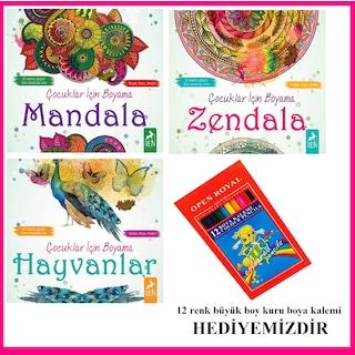 Cocuklar Icin Boyama Kitaplari Mandala Zendala Hayvanlar N11 Com