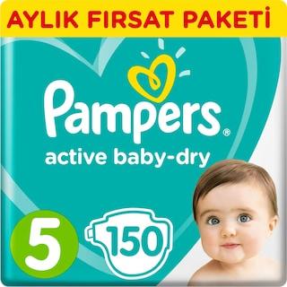 Prima Bebek Bezi Aktif Bebek 5 Beden  150 Adet  11-16 KG