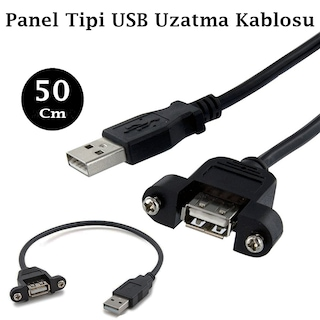 USB 2.0 Panel Tipi Uzatma Kablosu - 50 cm
