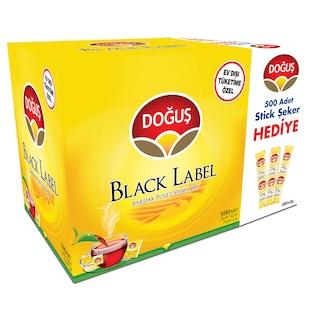 Doğuş Black Label Bardak Poşet Çay 500'lü +Stick Şeker Hediye