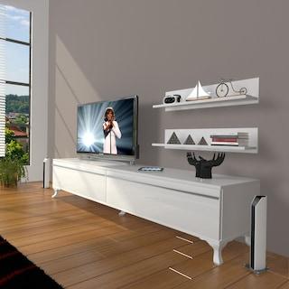 DECORAKTİV EKO 4 MDF RUSTİK TV ÜNİTESİ TV SEHPASI+ 2 RAF HEDİYELİ
