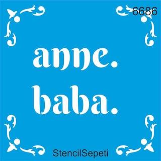 Anne Baba Stencil Ahsap Boyama Sablonu N11 Com