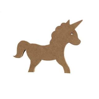 Dekoratif Ahşap Unicorn Tek Boynuzlu At Figürü 23x15 Cm
