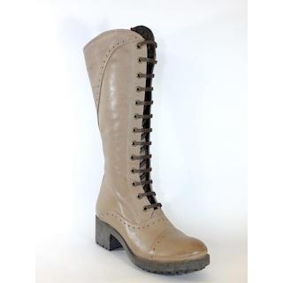 Pedrino 190 Vizon Deri Zımbalı Kadın Çizme