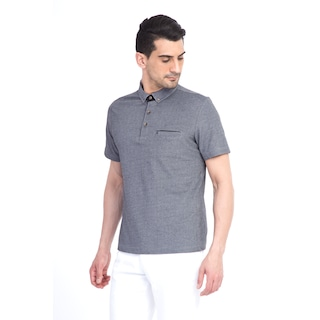 KİĞILI  Polo Yaka Tasarım Regular Fit Tişört