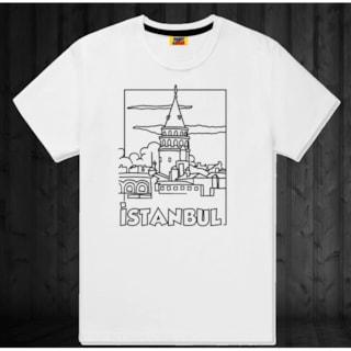 4 11 Yaş Arası çocuk Boyama T Shirt Galata Kulesi N11com