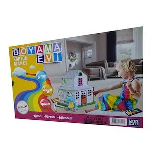 Boyama Evi Karton Maket Eğitici öğretici Oyun Evi 3 Yaş N11com